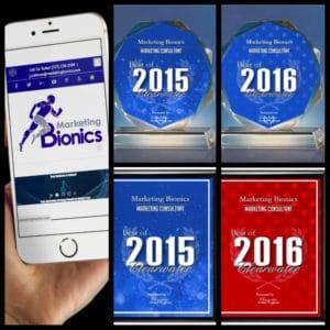 Tampa SEO Comapny Marketing Bionics Logo On iPhone